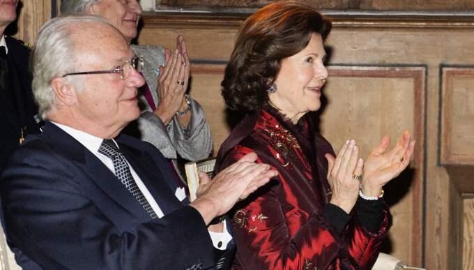 Kungen och drottningen anlände till Gripsholms slott på onsdagskvällen. Foto: Anna-Karin Nilsson