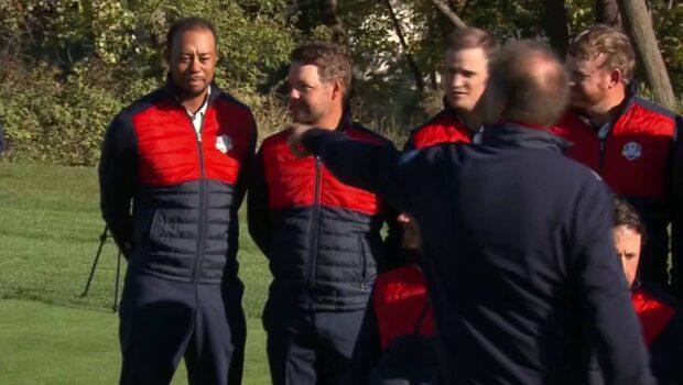 Tiger Woods blunder - utskrattad av lagkamraterna