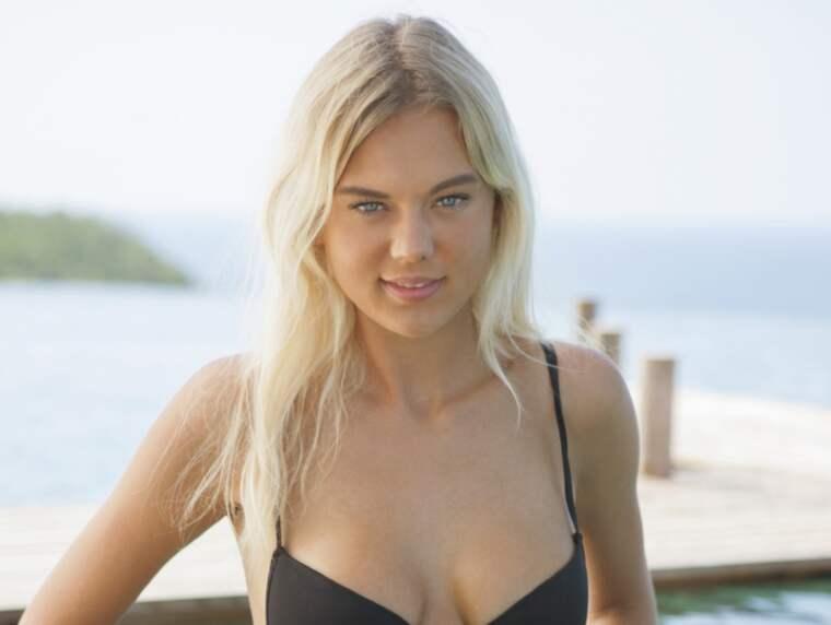 """Paradise hotel-deltagaren Caroline, 18, onanerar i tv: """"Synd att det måste vara ett tabu"""". Foto: Tv3.Dk"""