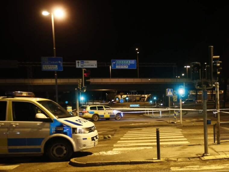 Två män påträffades skjutna i Majorna på lördagskvällen. Foto: Anders Ylander