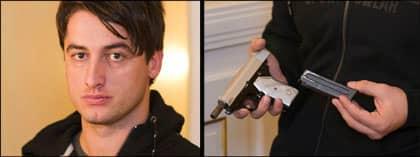 Vapnet, som Expressens reporter Diamant Salihu kom över efter bara fem timmar, är en pistol av modell CZ 70. Den är tillverkad i Serbien och användes länge av polis och militär i det forna Jugoslavien. Foto: STEFAN SÖDERSTRÖM