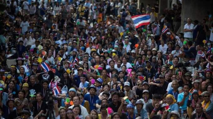 Massiva protester i Bangkok. Foto: Lam Yik Fei