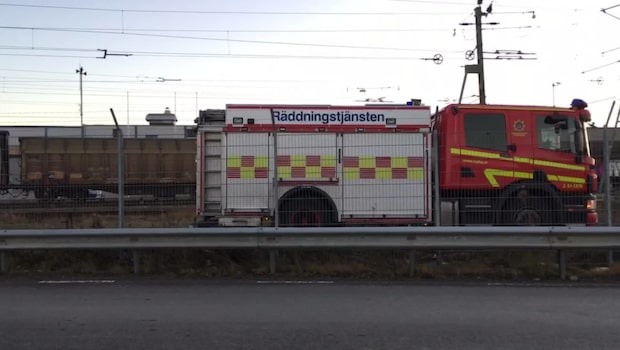 Godståg i krasch i Göteborg