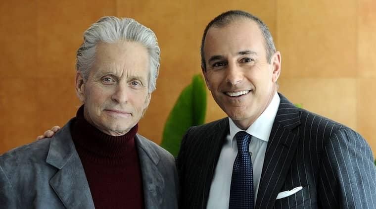 Michael Douglas berättar i en intervju med NBC:s Matt Lauer att cancertumören är borta. Foto: Peter Kramer