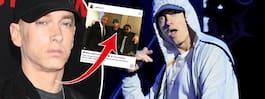 Fansen chockade av bilden på Eminem