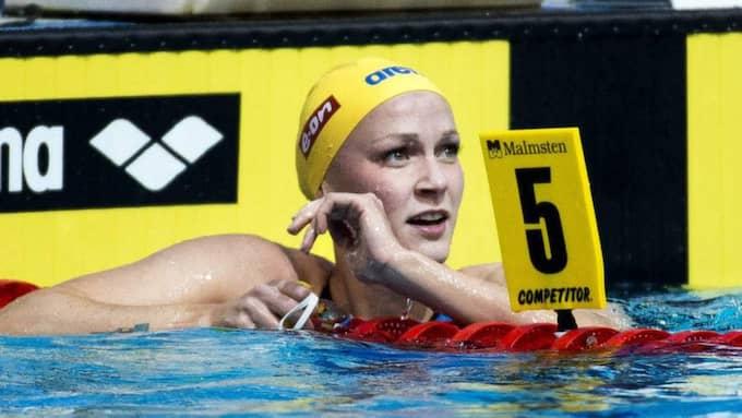 Sarah Sjöström är Sveriges stora guldhopp. Foto: Marcus Ericsson/Tt