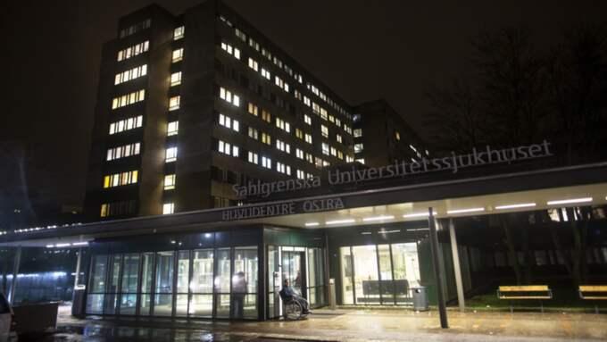 Den misshandlade mannen fördes till Sahlgrenska sjukhuset. Foto: Anders Ylander