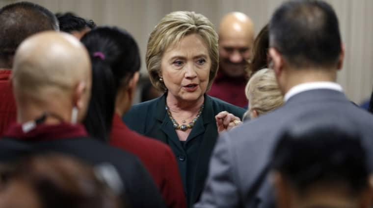 Hillary Clinton leder mätningarna i Nevada med röster från 47 procent av väljarna. Foto: John Locher