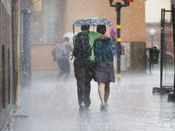 SMHI har utfärdat en klass 1-varning för kraftigt regn i Värmland. Foto: Izabelle Nordfjell