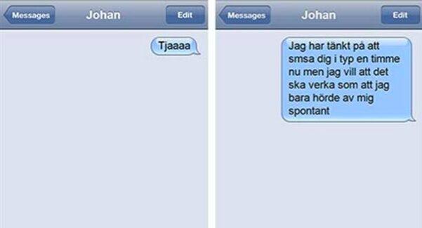 min dejt svarar inte på sms
