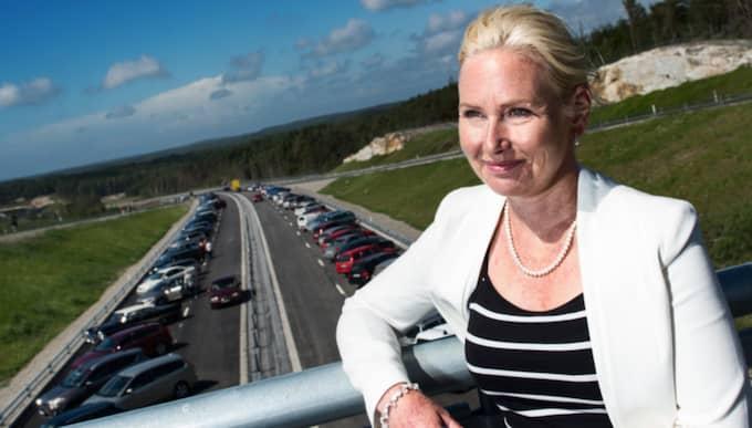 Infrastrukturminister Anna Johansson (S) besökte i veckan Ullared – för att diskutera vägstandard. Foto: Robin Aron