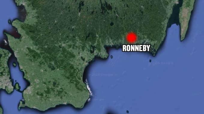 Det var i Ronnebytrakten som kvinnan försvann. Foto: GOOGLE MAPS