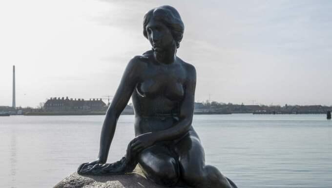 """Bilden på """"den lilla sjöjungfrun"""" var för naken för Facebook. Foto: Tomas Leprince"""