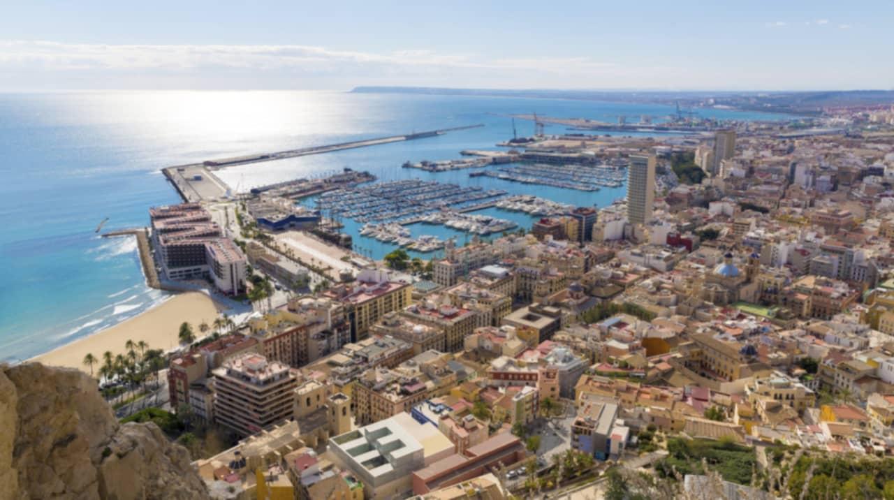 Spanien Alicante Och Costa Blanca Inte Bara F 246 R