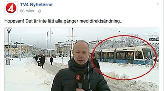 Nej, det är minsann inte lätt med direktsändning alla gånger. Foto: TV4