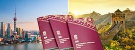 Kina inför nya tuffare visumregler för svenskar