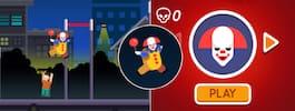 """Succé för clownspelet """"Killer clown chase"""""""