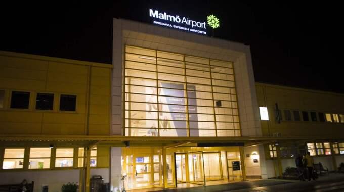 Planet tvingades nödlanda på Malmö airport. Foto: Tomas Leprince