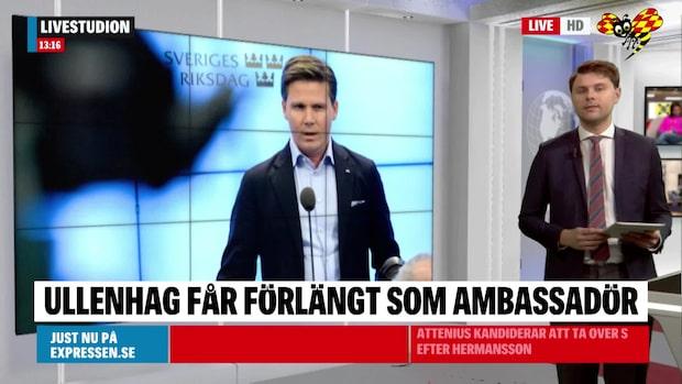 Erik Ullenhag (L) får förlängt uppdrag som ambassadör