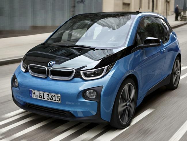Bättre batteri i BMW i3 förlänger maximala räckvidden till 30 mil.