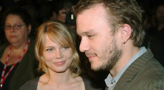 Heath Ledger med sin ex-flickvän Michelle Williams. Foto: Neitzert Andy
