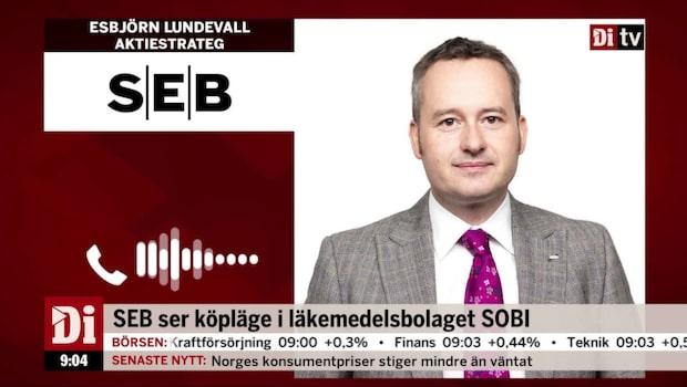 """Lundevall om Sobi: """"Bra vinsttillväxt"""""""