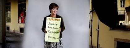 """LÄNGTAR EFTER VALET. """"Nu är det ett år kvar till valet och varenda dag så andas och tänker och längtar jag efter 19 september"""", säger Mona Sahlin. Foto: Robban Andersson"""