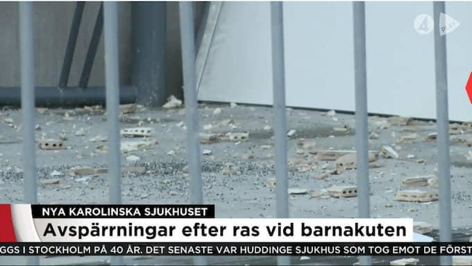 Här ser man splitter efter raset. Foto: TV4