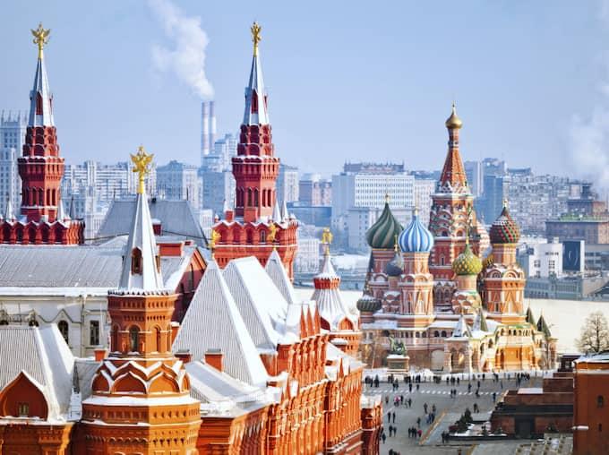Utsikten från hotellet Ritz Carlton Moscow. Här ska Donald Trump ha hyrt en hotellsvit. Foto: Istock / DMITRY@MORDOLFF.RU