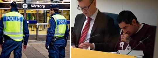 Joel Bjurströmer Almgren ställs inför rätta. Foto: Emil Nordin och Roger Vikström