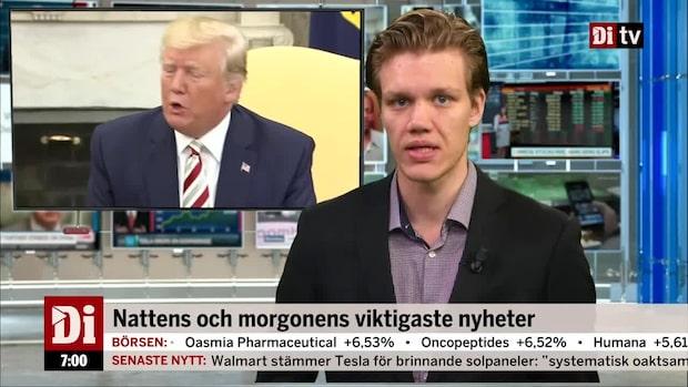 Di Morgonkoll – Trump vill sänka skatten och nobbar Danmark