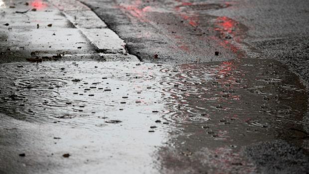 Fortsatt ostadigt väder med mycket regn