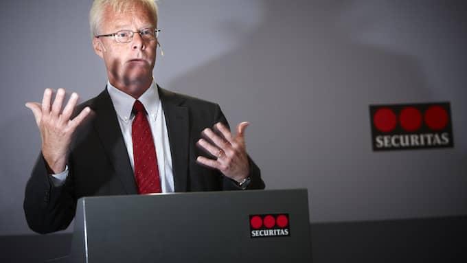 Säkerhetsjätten Securitas vd Alf Göransson blev tillfälligt satt i konkurs på grund av tingsrättens godtrogna rutiner. Foto: FREDRIK PERSSON / TT / TT NYHETSBYRÅN