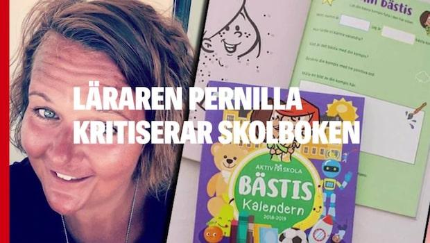 """Läraren Pernilla kritiserar skolboken: """"Så förlegat"""""""