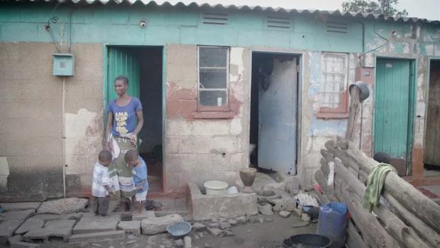 Margret i Zambia är ensamstående mamma med åtta barn