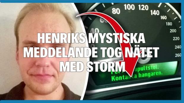 Henriks mystiska meddelande i Saaben tog nätet med storm
