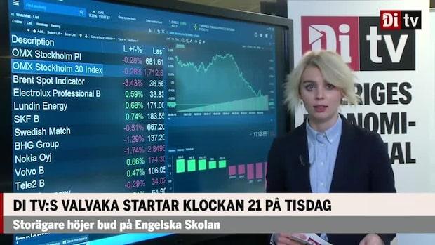 Marknaden: Lundin Energy upp 1 % – Nokia ner 1,5 %