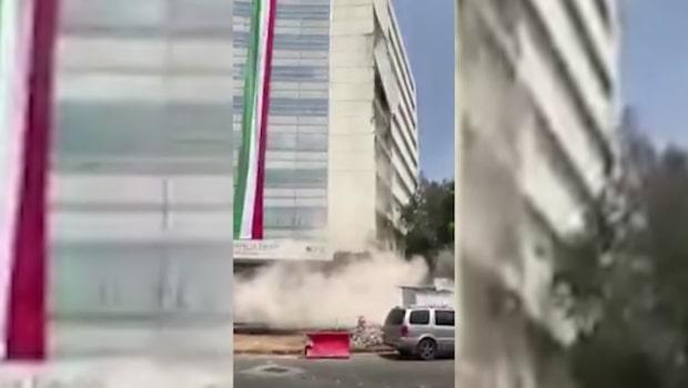 Kraftig jordbävning skakar Mexiko City