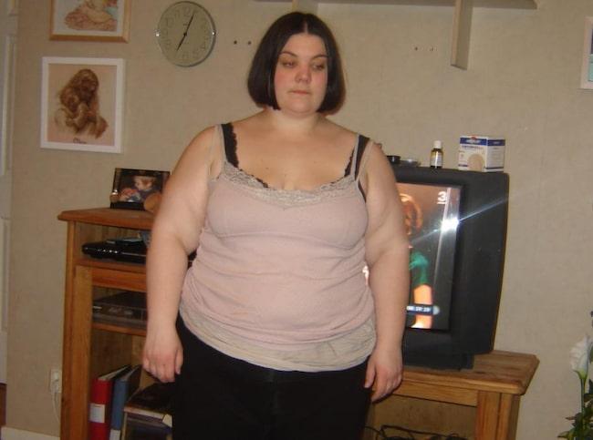 Som mest vägde Linda 130 kilo.