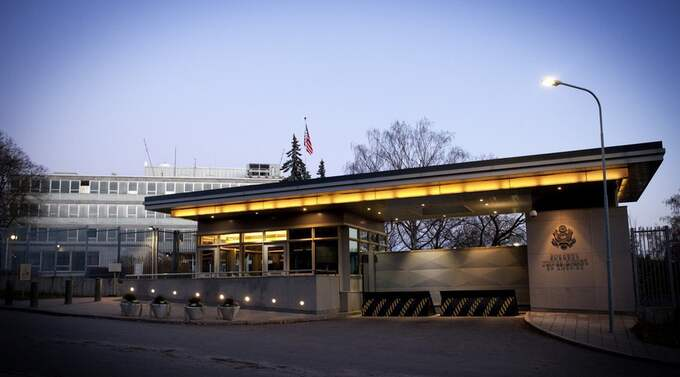 Amerikanska ambassaden i Stockholm. Foto: Martina Huber