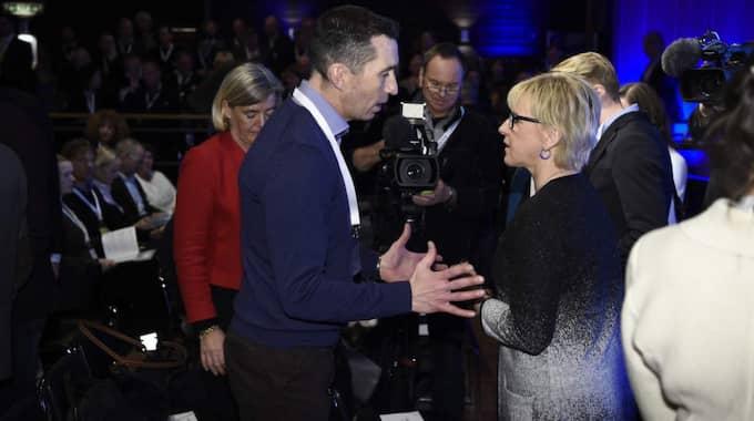Margot Wallström (S), utrikesminister, inledde konferensen Folk och försvar i Sälen. Foto: Sven Lindwall