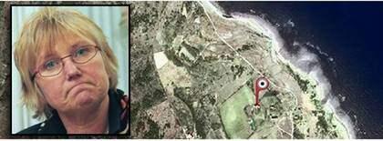 Gotlands landshövding Marianne Samuelsson är i blåsväder. Foto: Google Maps, Lars Nyberg