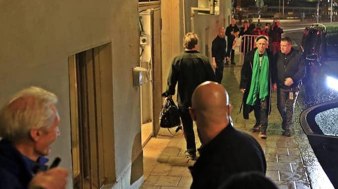 Keith Richards anländer till hotellet. Foto: Lars Höglund