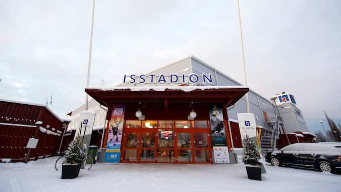 Mannen hittades död i sin bil utanför LF Arena i Piteå på fredagen. Foto: CARL SANDIN / BILDBYRÅN