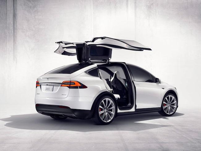 Tesla Model X, när bilden skickades ut (2015) handlade det då om en kommande modell.