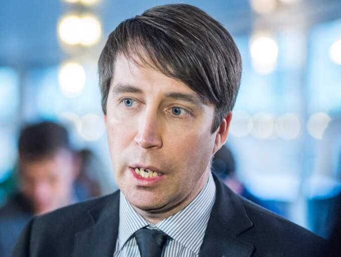 """Richard Jomshof, partisekreterare SD : ''Det är klart att det är glädjande att partiet ökar. Det är en förutsättning för att vi ska kunna jobba vidare och försöka bli den maktfaktor i svensk politik som vi vill göra. Våra frågor, invandringsfrågan och integrationen, diskuteras allt mer."""" Foto: Pelle T Nilsson"""