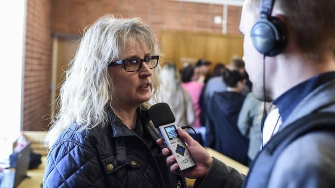 Eva Norberg frågade om spädbarnets blåmärke – och den misstänktes datorintresse. Foto: JENS CHRISTIAN
