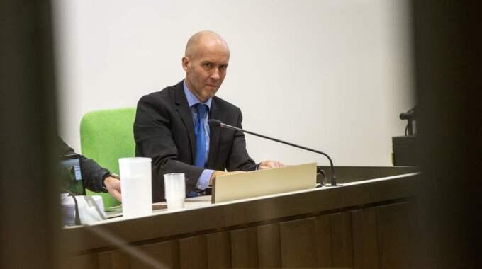Chefsåklagare Lars-Göran Wennerholm la fram bevis på bevis under rättegången. Foto: Anders Ylander