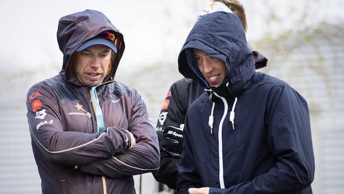 Emil Jönsson och Calle Halfvarsson. Foto: ERIK SIMANDER / BILDBYRÅN