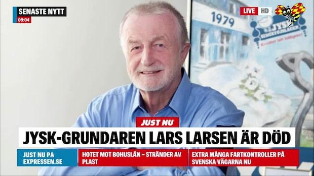 Jysk-grundaren Lars Larsen död